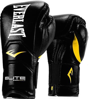 Перчатки Everlast Elite Pro 14oz Black (на липучке)