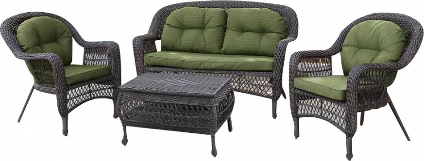 Комплект мебели Афина-Мебель LV520BG бежевый/зеленый