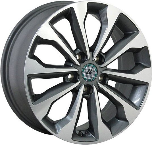 """Комплект дисков Top Driver KI253 7jx17"""" 5/114,3 ET52 D67,1 GMF/насыщенный темно-серый полностью полированный"""