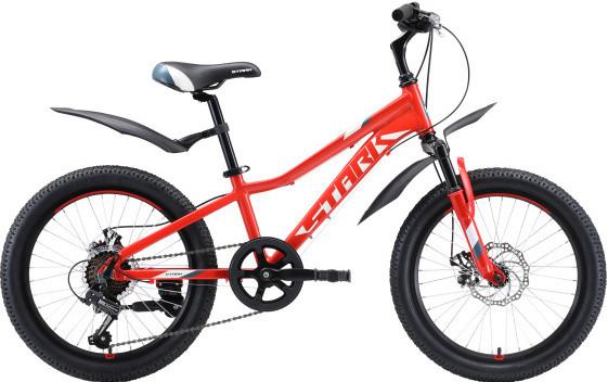 """Велосипед Stark Rocket 20.1 D (2020) красный/белый/серый 20"""""""