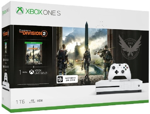 Игровая приставка Microsoft Xbox One S 1Tb + Tom Clancys The Division 2