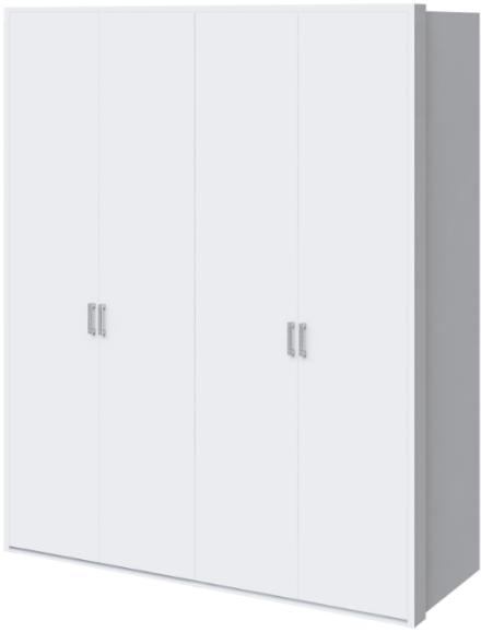Шкаф Интердизайн Белла белый глянец 221x187x60 см