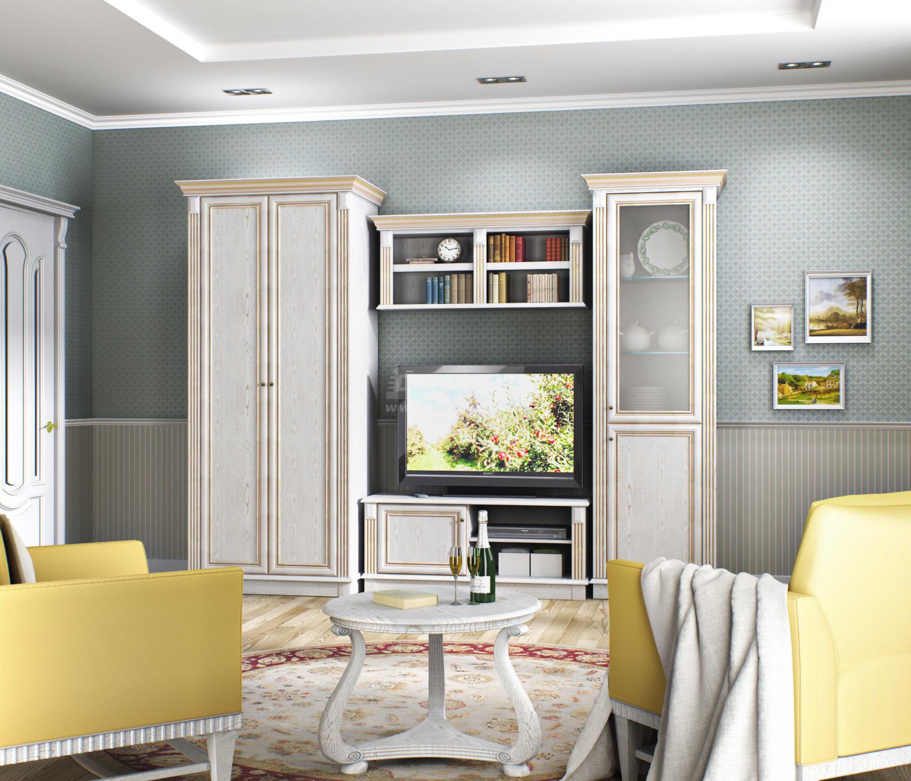 Стенка Столплит Версаль 120-454-953-5500 белый ясень