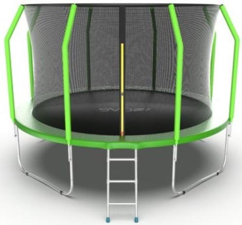 Батут Evo Jump Cosmo 12FT Green (с внутренней сеткой и лестницей)