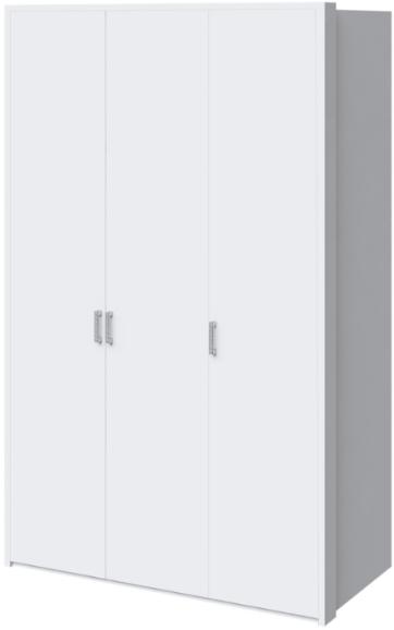 Шкаф Интердизайн Белла белый глянец 221x142x60 см