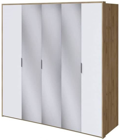 Шкаф Интердизайн Тоскано дуб крафт/белый 2209x2320x599 см (с зеркалами)