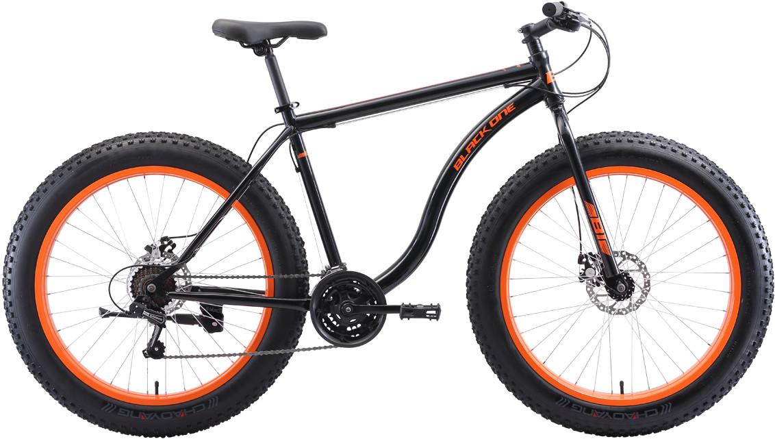 """Велосипед Black One Monster 26 D (2020) чёрный/оранжевый 26""""/20"""""""