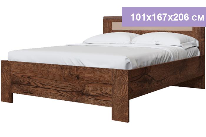 Полутороспальная кровать Интердизайн Тоскано Лайт темно-коричневый/коричневый 101x167x206 см (ортопедическое основание)