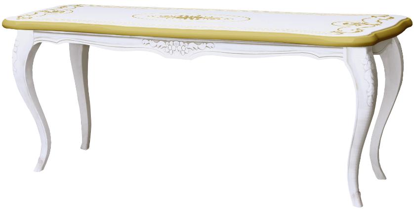 Журнальный столик Интердизайн Роза белый/золото 475x1120x498 см