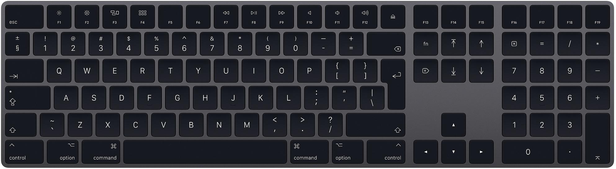 Клавиатура Apple Magic Keyboard with Numeric Keypad Grey
