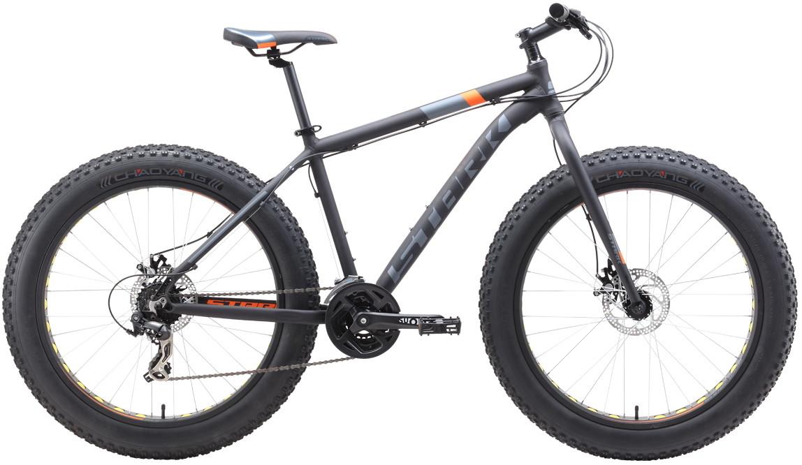 """Велосипед Stark Fat 26.2 D (2019) черный/оранжевый/серый 26""""/18"""""""