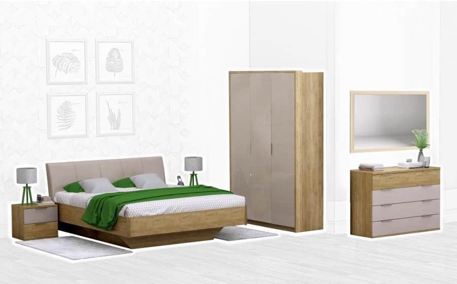Спальня Интердизайн Тоскано дуб крафт/капучино (композиция 3)