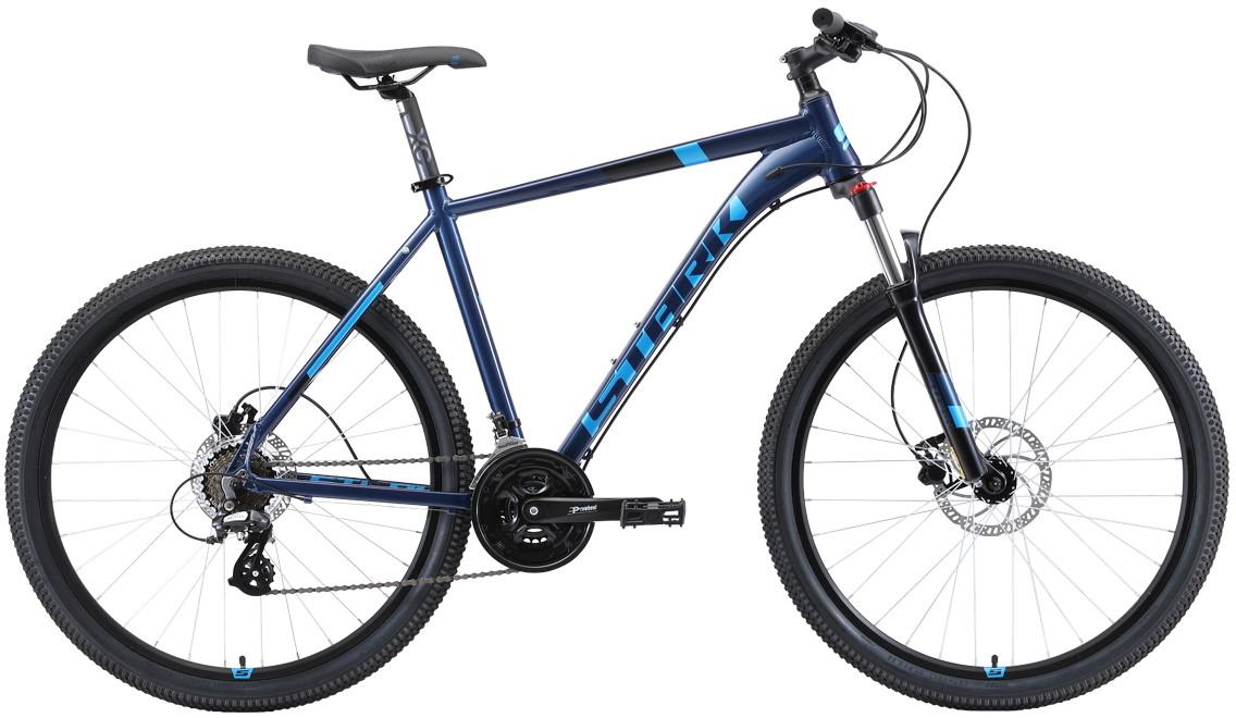 """Велосипед Stark Router 27.3 HD (2019) голубой/черный 27.5""""/18"""""""