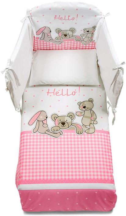 Постельное белье Italbaby Hello розовый