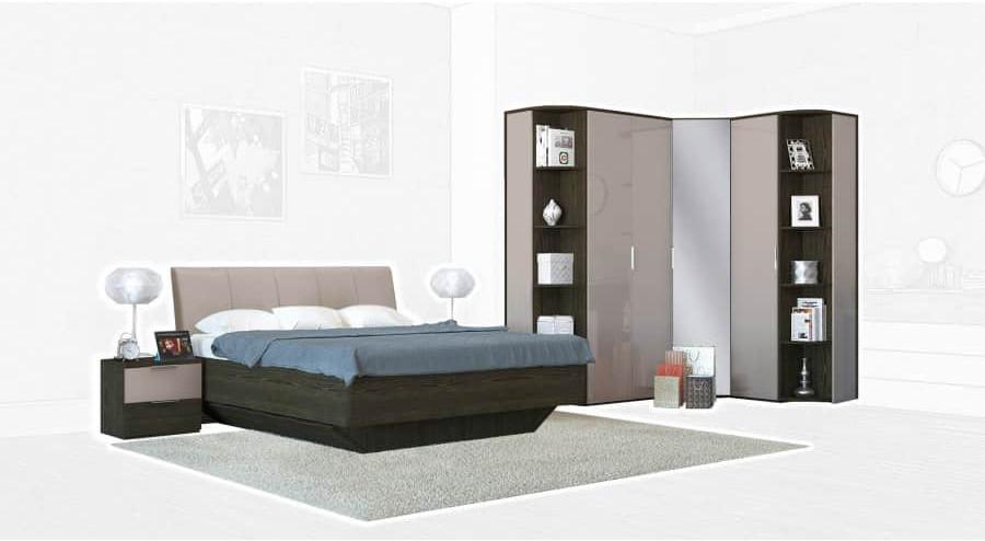 Спальня Интердизайн Тоскано ясень темный/капучино (композиция 4)