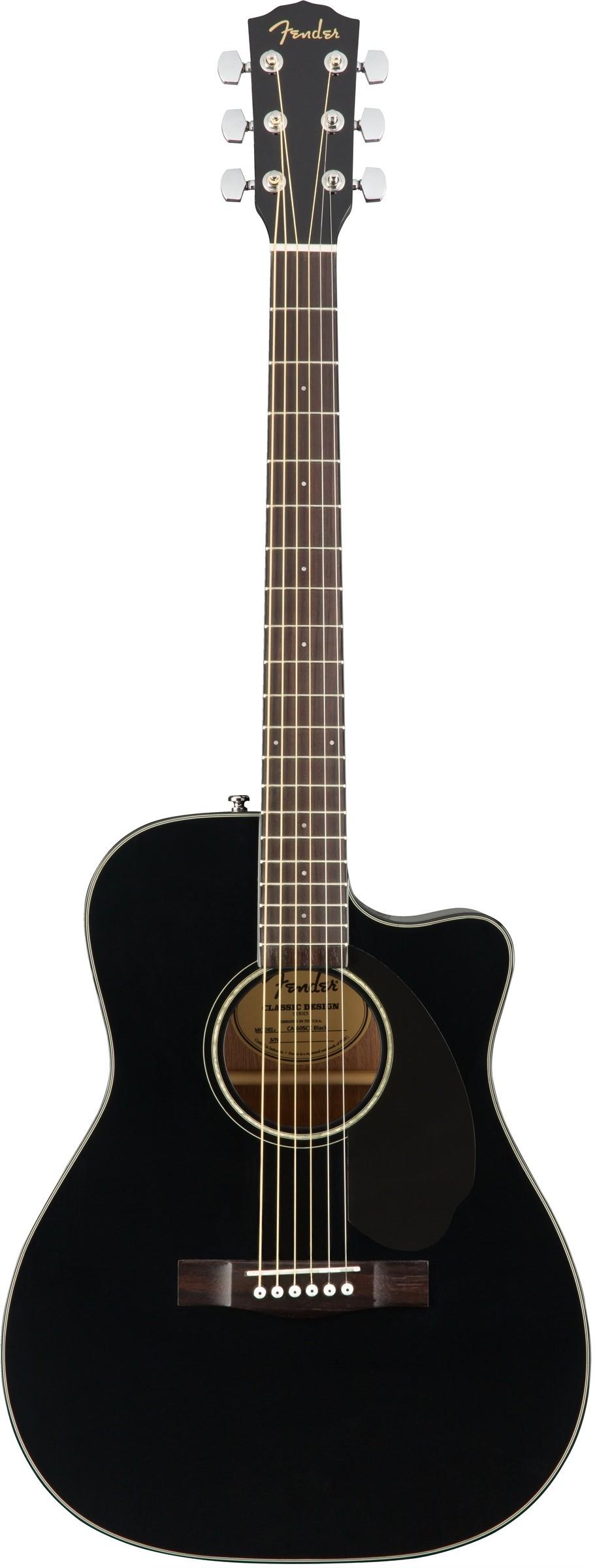 Акустическая гитара Fender CC-60SCE BLK WN