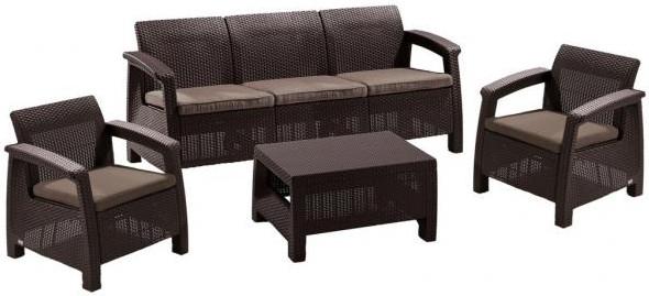 Комплект мебели Афина-Мебель AFM-1030A коричневый