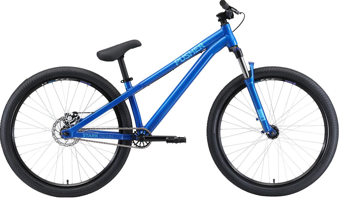 """Велосипед Stark Pusher 1 SS (2020) голубой/синий 26""""/S"""