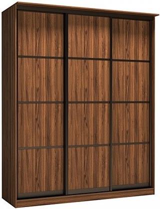 Шкаф-купе Цвет Диванов Тибр К-4 орех каннеро 188x60x234 см (трехдверный)