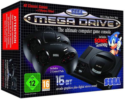 Игровая приставка Sega Mega Drive Mini HDMI Black