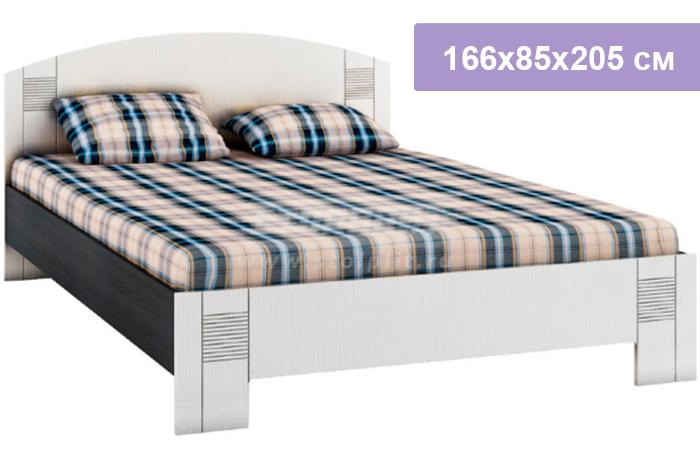 Двуспальная кровать Столплит Сити СБ-1877 дуб феррара/онденс 166x85x205 см