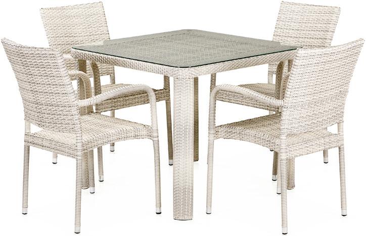 Комплект мебели Афина-Мебель T341A/Y376A-W85 4Pcs светлый бежевый