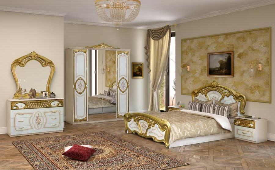 Спальня Интердизайн Роза белый/золото