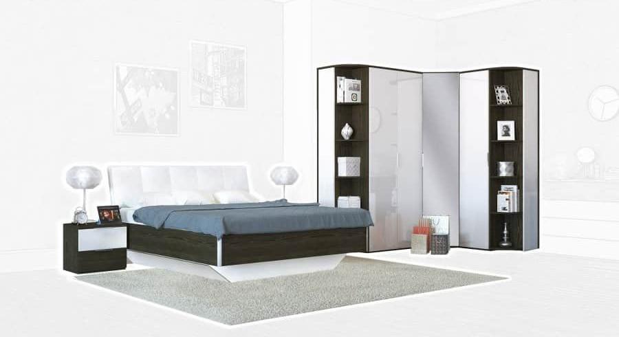 Спальня Интердизайн Тоскано ясень темный/белый (композиция 4)