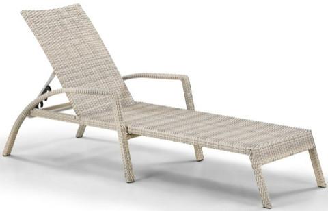 Шезлонг-лежак Афина-Мебель A30С-W85 латте (без матраса)
