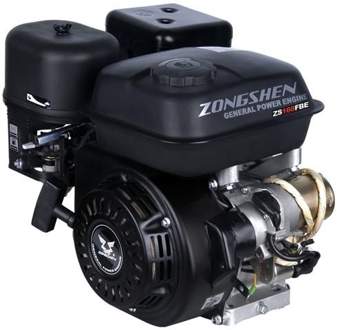 Двигатель Zongshen ZS168FBE (без катушки, 6.5 л.с.)