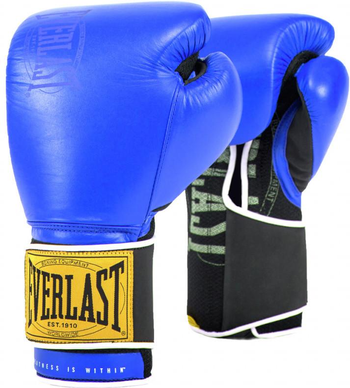 Перчатки Everlast 1910 Classic 14oz Blue (на липучке)