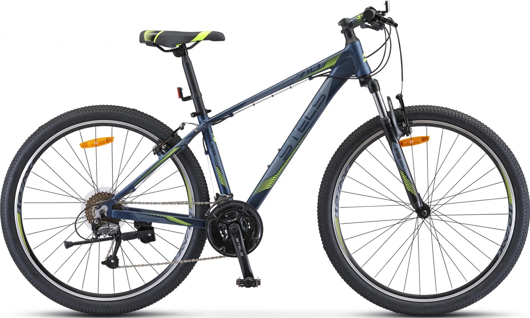 """Велосипед Stels Navigator 710 V 27.5 V010 (2020) темно-синий 27.5""""/15.5"""""""