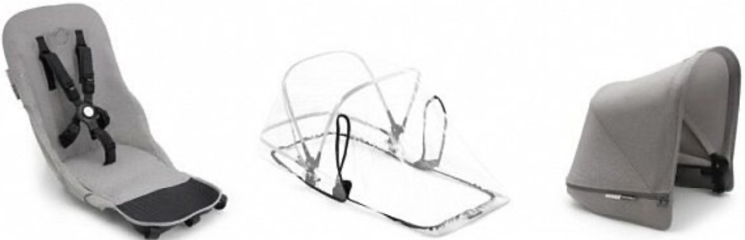 Комплект для коляски Bugaboo 180122AQ01 Mineral Light Grey