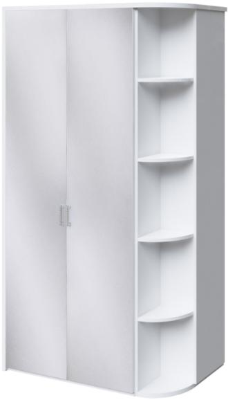 Шкаф Интердизайн Белла белый глянец 221x122x60 см
