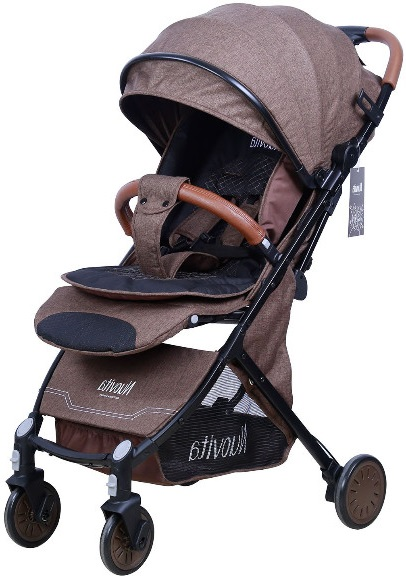 Коляска Nuovita Giro Lux Brown/Black