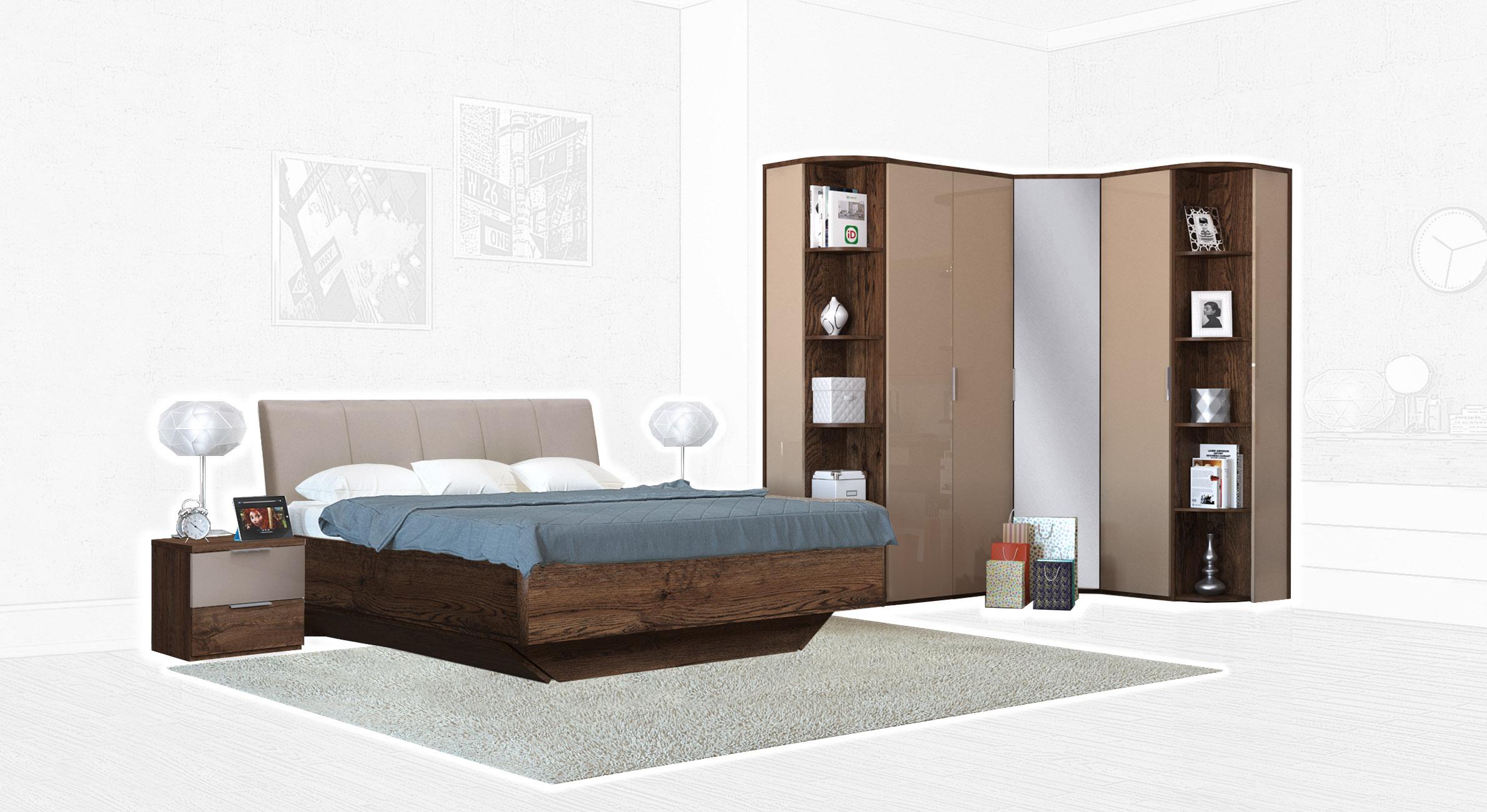 Спальня Интердизайн Тоскано дуб эйприл/капучино (композиция 4)