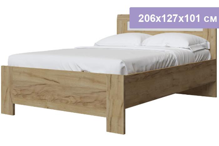 Двуспальная кровать Интердизайн Тоскано Лайт дуб крафт/белый 206x127x101 см (ортопедическое основание)