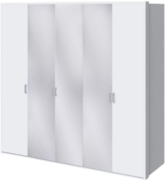 Шкаф Интердизайн Белла белый глянец 221x232x60 см (с зеркалами)