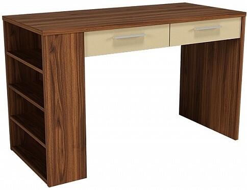 Письменный стол Цвет Диванов Вейла В-48 орех каннеро/песочный матовый 120x55x75 см