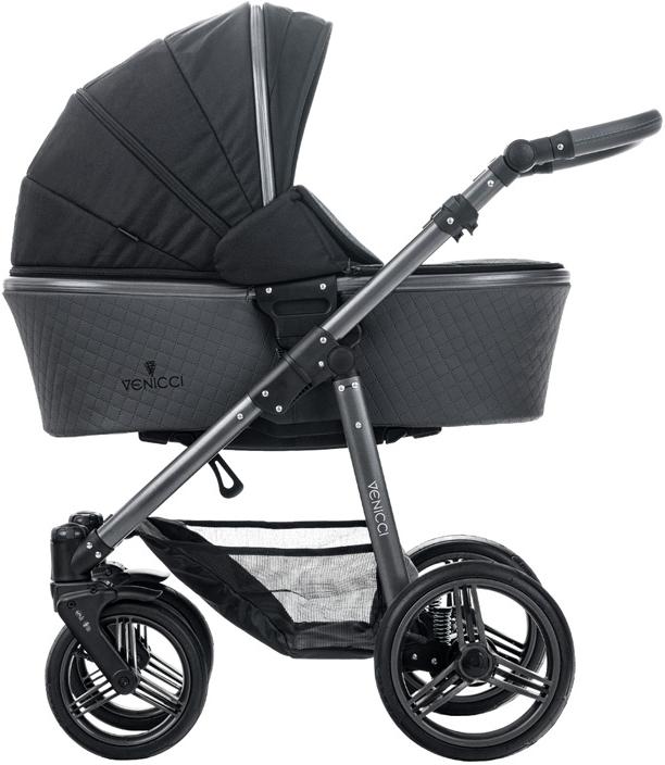 Коляска Venicci 2-в-1 Carbo Lux Black