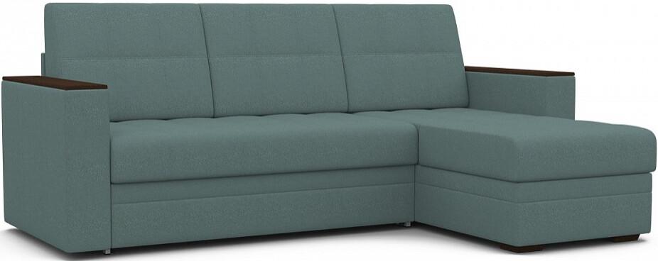 Диван-кровать Цвет Диванов Атланта Next угловой темно-бирюзовый 231x150x95 см