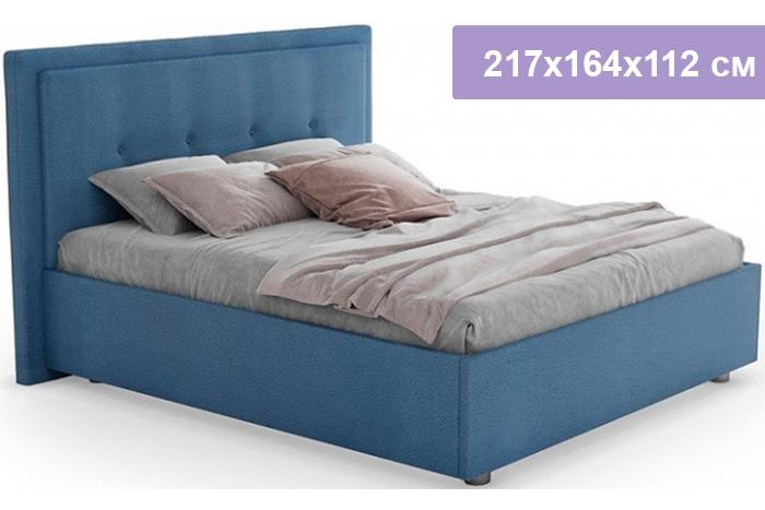 Полутороспальная кровать Цвет Диванов Палермо Н темно-голубой 217x164x112 см