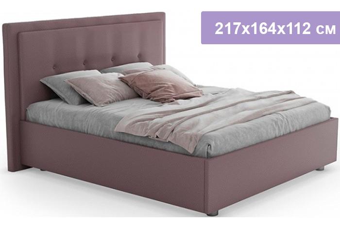 Полутороспальная кровать Цвет Диванов Палермо Н сиренево-серый 217x164 x112 см (подъемный механизм)
