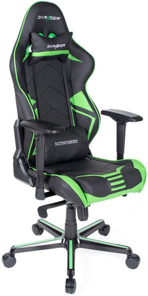 Игровое кресло DXRacer OH/RV131/NE черный/зеленый