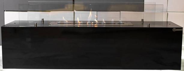 Биокамин Kronco Marselo LED черный (напольный)