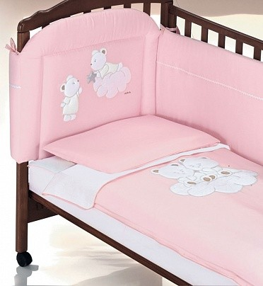 Постельное белье Italbaby Nuvola розовое