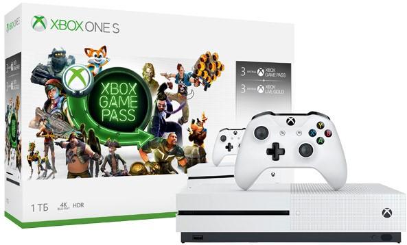 Игровая приставка Microsoft Xbox One S 1Tb White + Xbox Game Pass 3 месяца + Xbox Live Gold 3 месяца