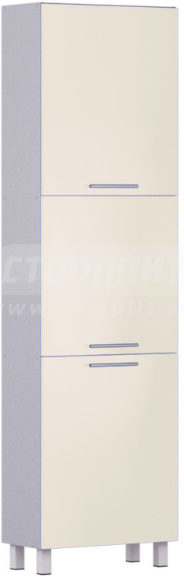 Пенал Столплит Анна 301-560-360-0938 алюминий/ваниль 60x214x29 см