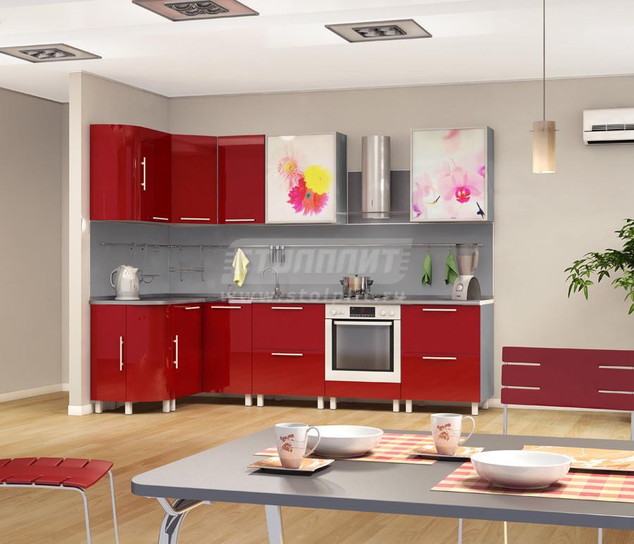 Кухня Столплит Анна 9 рубин 280x82x60 см