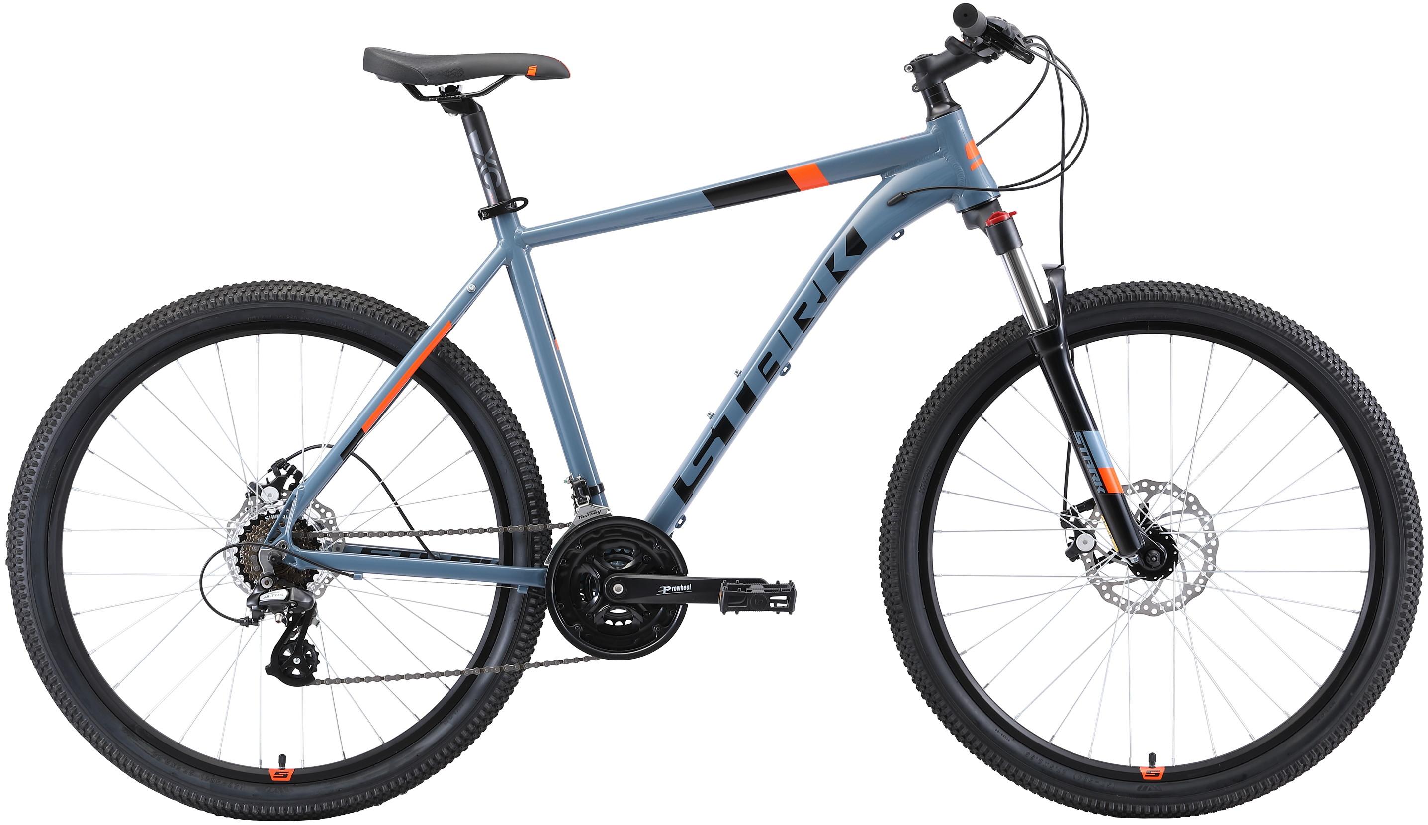 """Велосипед Stark Router 27.3 D (2019) серый/черный/оранжевый 27.5""""/20"""""""